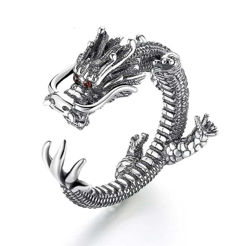 Bague Argent | Dragon Chinois - Dragonys