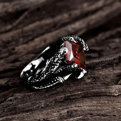 Bague Griffes de Dragon Rubis - Dragonys