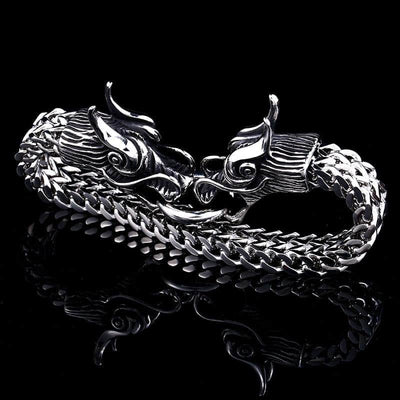 Bracelet double tête de dragon Easy-hook - Dragonys
