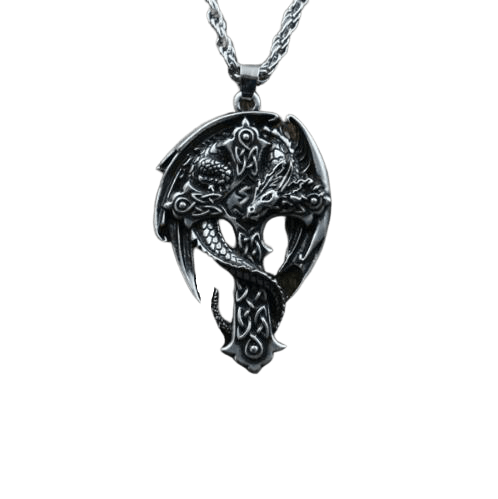 Collier Dragon Crucifix - Dragonys