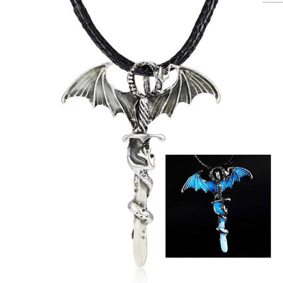 Collier Lame de Dragon Lumineux - Dragonys