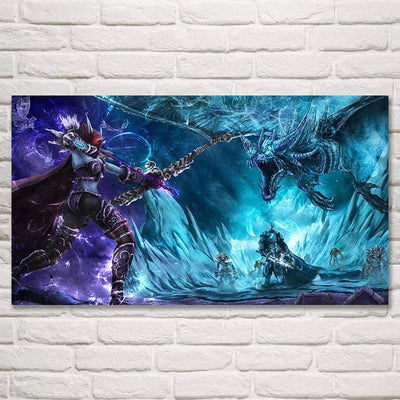FOOCAME World of WoW Lich King Sylvanas Windrunner Dragon Game Silk Posters and Prints Decoration Pictures Art Wall Printing - Dragonys