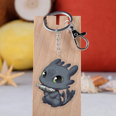 Porte Clef Dragon Plaque Cartoon - Dragonys