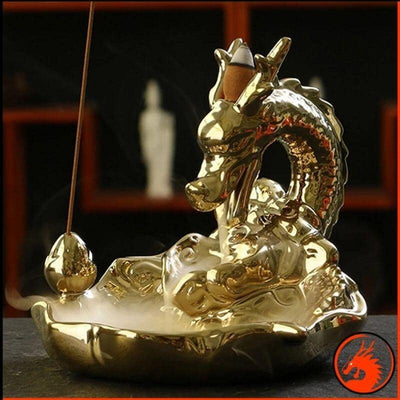 Porte Encens Dragon d'Or - Dragonys