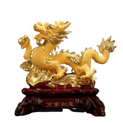 Statue de Dragon Chinois Or - Dragonys