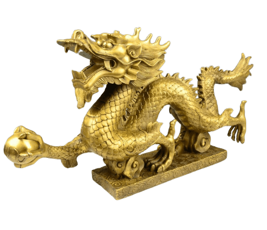 Statue de Dragon Or - Dragonys