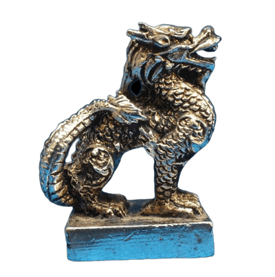 Statue de Dragon en Argent Tibétain - Dragonys
