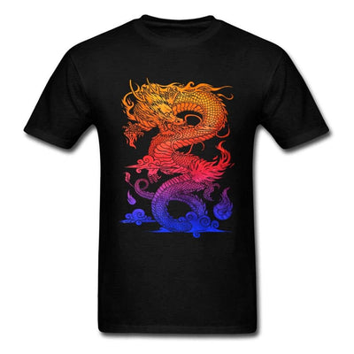 T-Shirt Dragon Brûlant Street art - Dragonys
