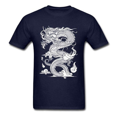 T-Shirt Dragon Chinois à motif gris - Dragonys