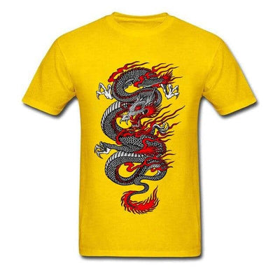 T-Shirt Dragon d'Asie à motif bicolore - Dragonys