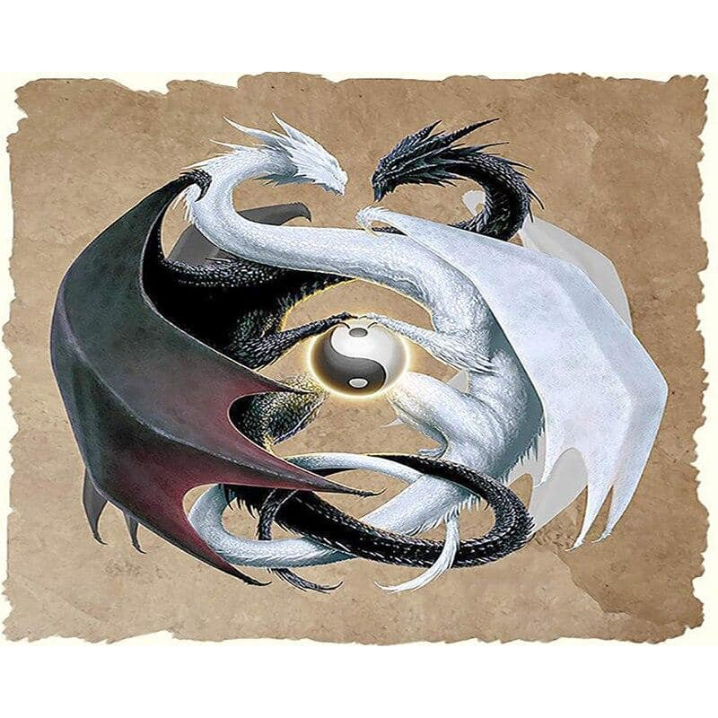Tableau Dragon Yin & Yang - Dragonys