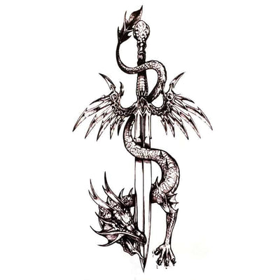 Tatouage Dragon Dague - Dragonys