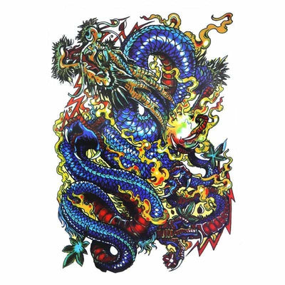 Tatouage Dragon Flamme - Dragonys