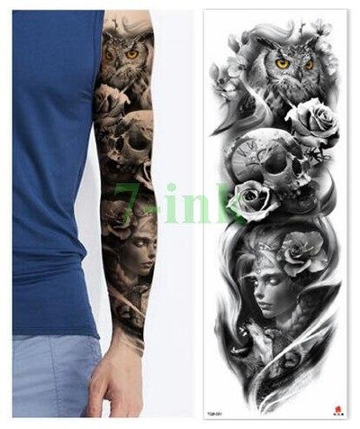 Waterproof Temporary Tattoo Sticker dragon Chinese style full arm fake tatto flash tatoo big size sleeve tato for men women - Dragonys