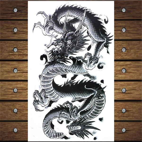 Y Xlwn Chinese Dragon 2 Pattern Men S Diy Body Art Tattoo Vivid Tempor Dragonys