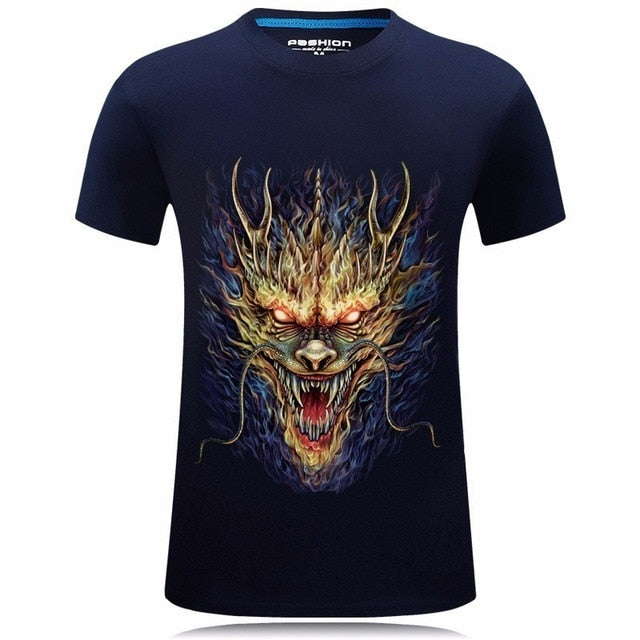 T-Shirt 3D Dragon manche 3/4 - Dragonys