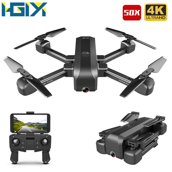 Drone 4K HD Dual Camera 50X Times Zoom WIFI FPV Foldable
