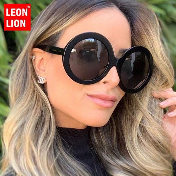 LeonLion 2019 Round Oversized Sunglasses Women Oval Sunglasses Women/Men Vintage Glasses for Women Luxury Oculos De Sol Gafas
