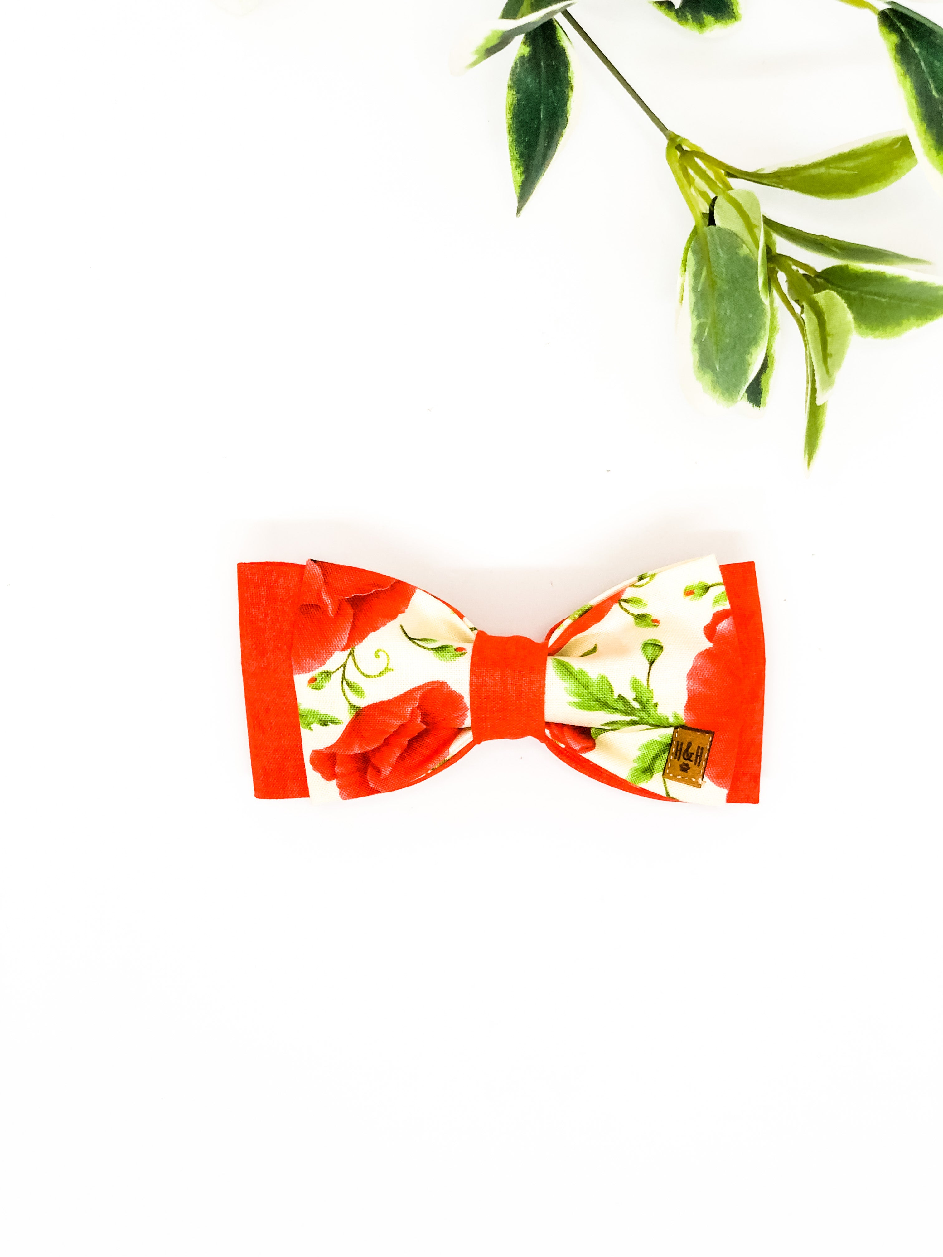 Double Dog Bow tie | Remembrance Poppy