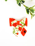 Double Dog Sailor Bow | Remembrance Poppy