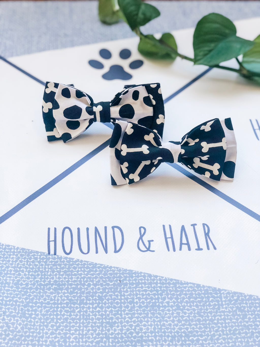 Double Dog Bow tie | Dalmatian x Bones