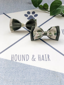 Double Dog Bow tie | Eucalyptus x Khaki