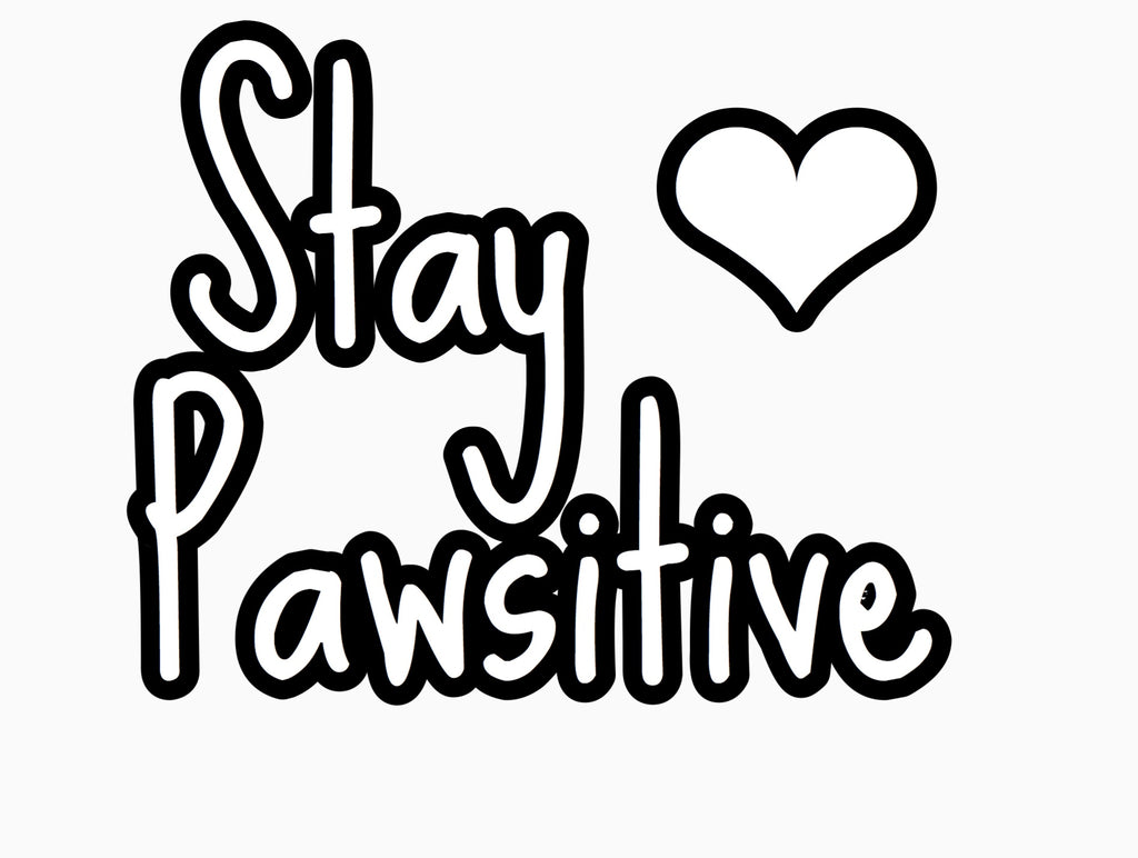"""Stay Pawsitive"" Text Add-On"