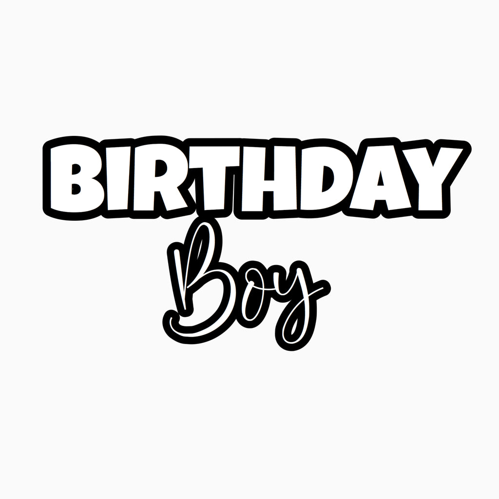 """Birthday Boy"" Text Add-On"