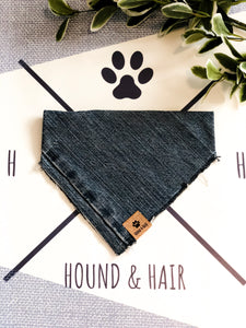 MEDIUM Upcycled Denim Bandana - Mid Wash
