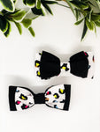 Double Dog Bow tie | Neon Leopard x Black