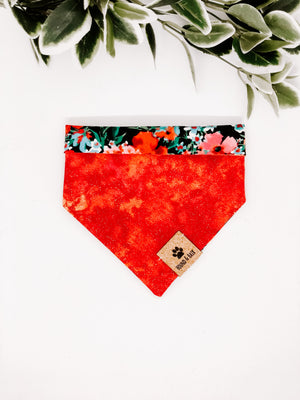 Reversible Snap on Bandana | ANZAC Poppies