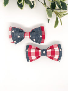 Double Dog Bow tie | Checkers x Denim Dots
