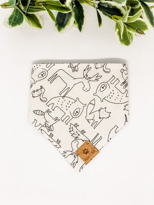 Reversible Snap on Bandana | Forest Friends x Spots