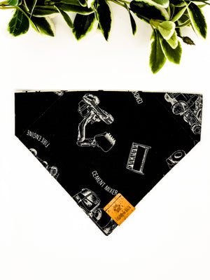 Reversible Over the Collar Bandana | Construction x Stars