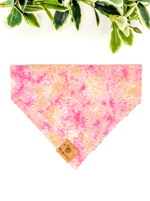 Reversible Over the Collar Bandana | Glitter Unicorns x Pink