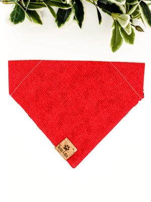 Reversible Over the Collar Bandana | Cherries x Red