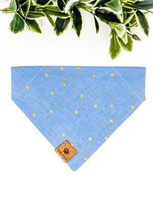 Reversible Over the Collar Bandana | Wild Bloom x Periwinkle Stars