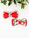 Double Dog Bow tie | Cherries x Red