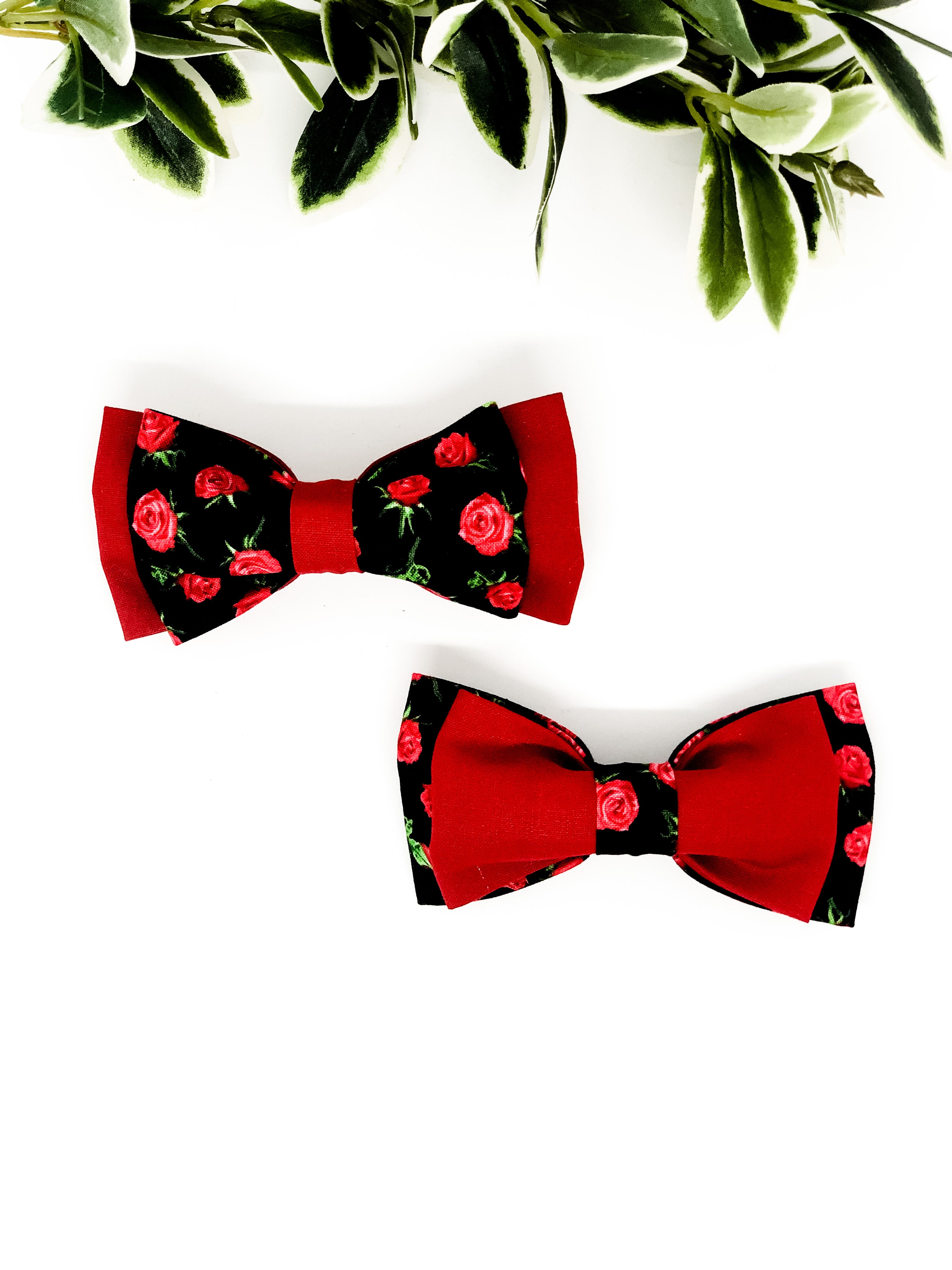 Double Dog Bow tie | Roses x Red
