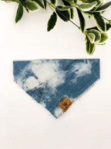 SMALL Upcycled Denim Bandana - Tie Dye