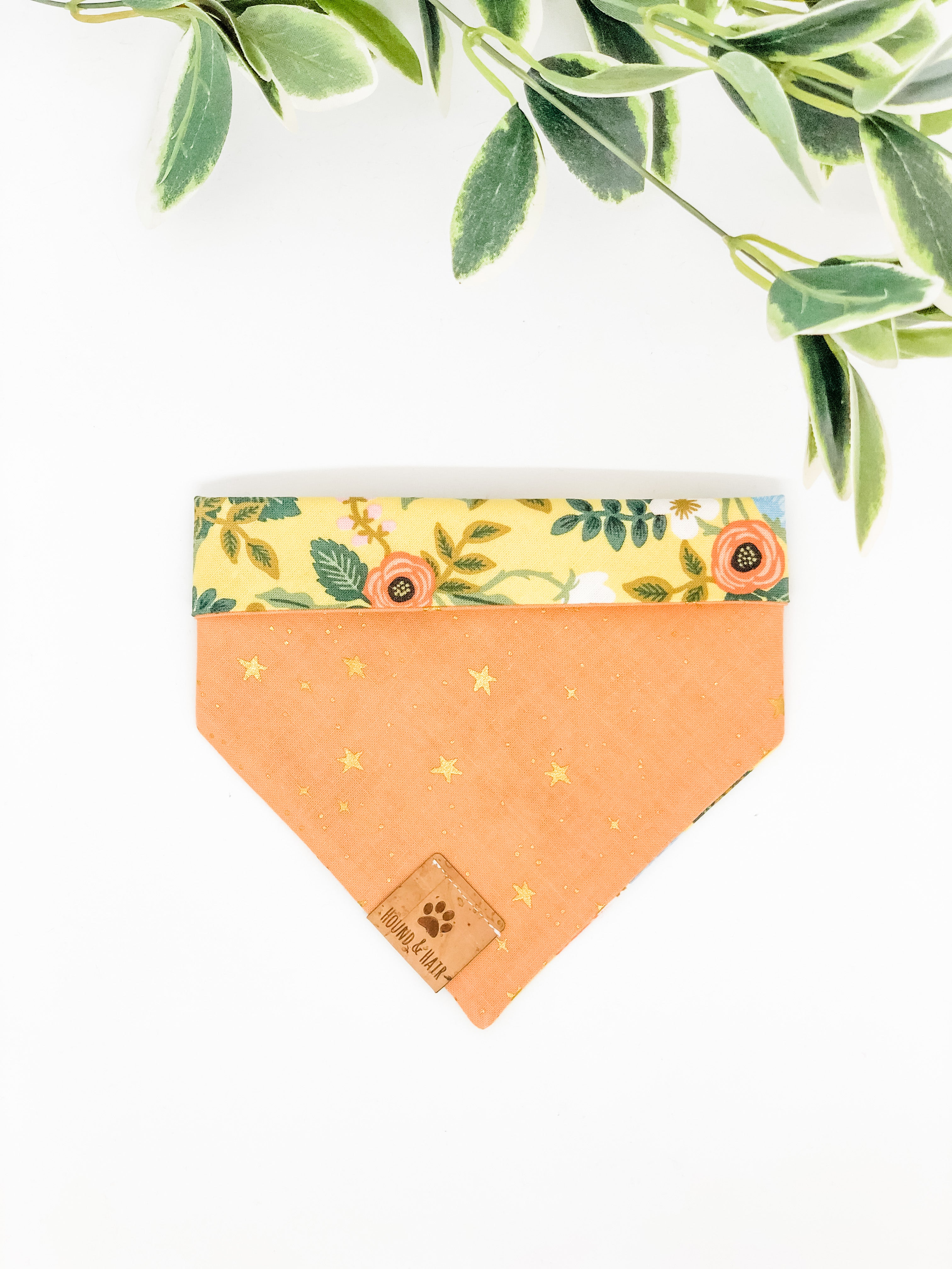Reversible Snap on Bandana | Wild Bloom 2.0 x Peach Stars