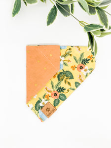Reversible Over the Collar Bandana | Wild Bloom 2.0 x Peach Stars