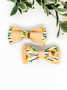 Double Dog Bow tie | Sunflowers x Yellow