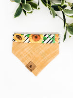 Reversible Snap on Bandana | Sunflowers x Yellow