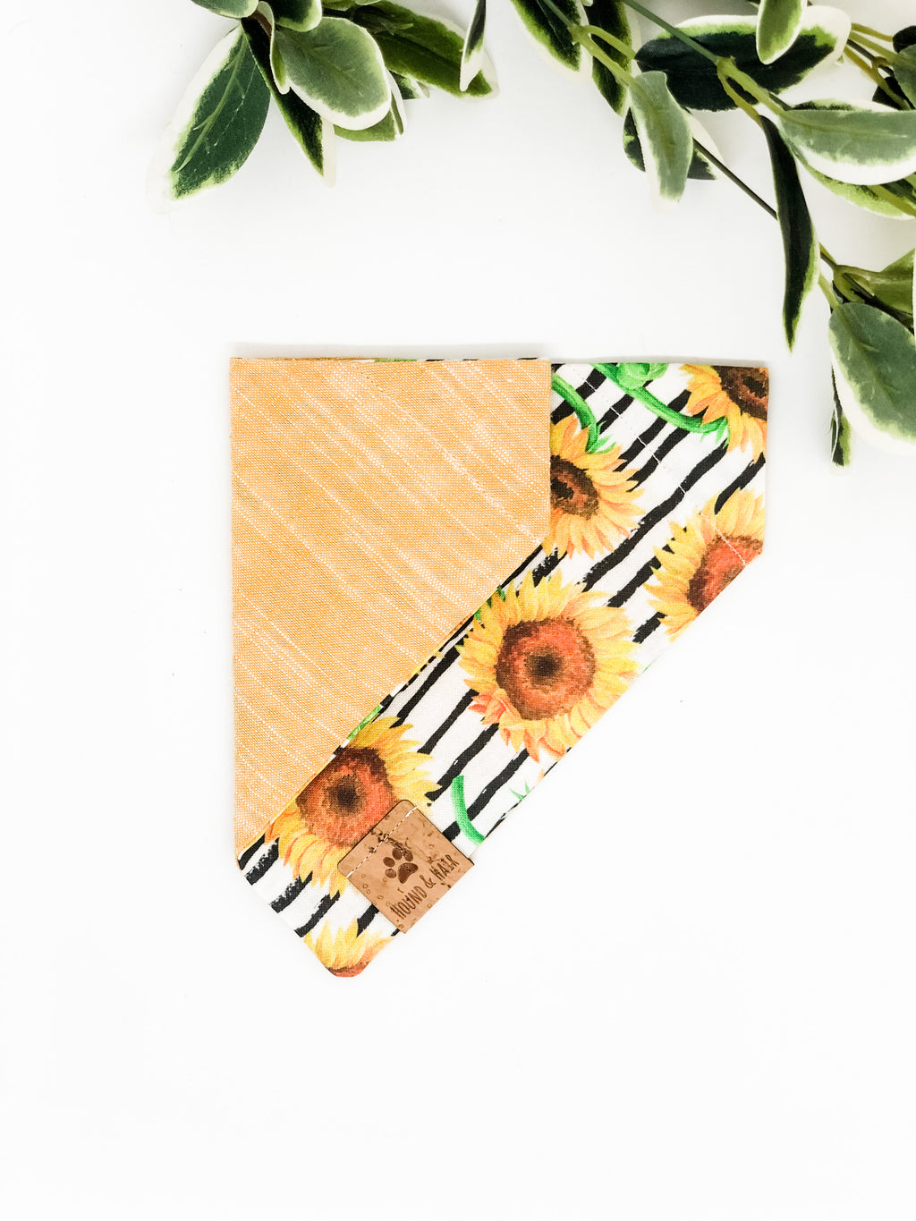 Reversible Over the Collar Bandana | Sunflowers x Yellow