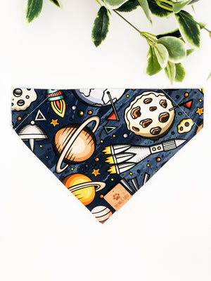 Reversible Over the Collar Bandana | Outer Space x Clouds