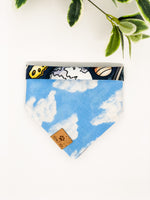 Reversible Snap on Bandana | Outer Space x Clouds