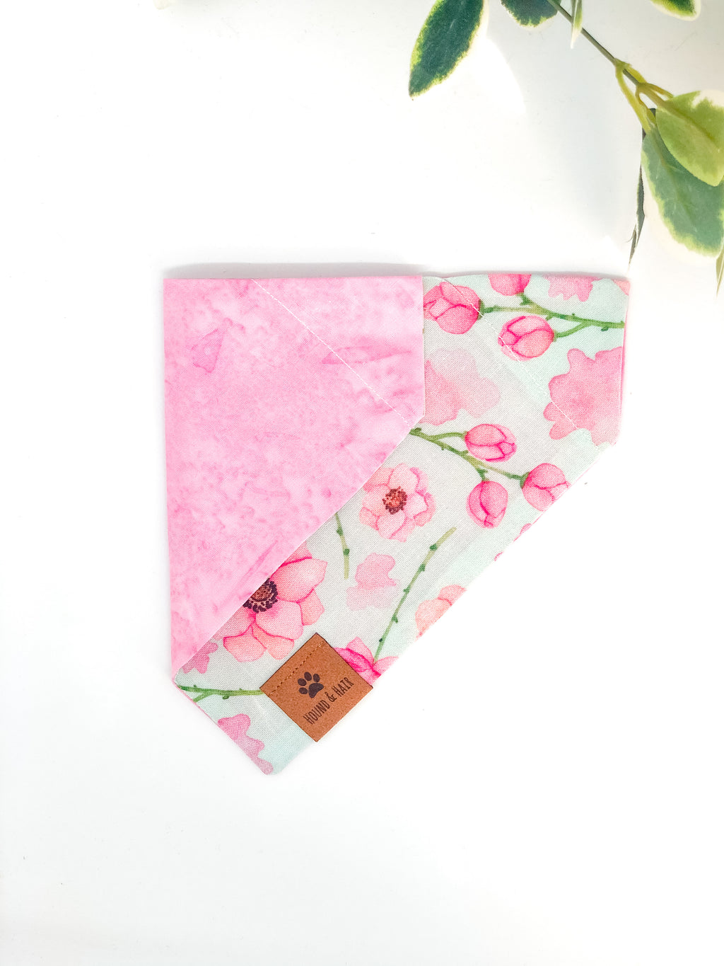 Reversible Over the Collar Bandana | Peony x Pink