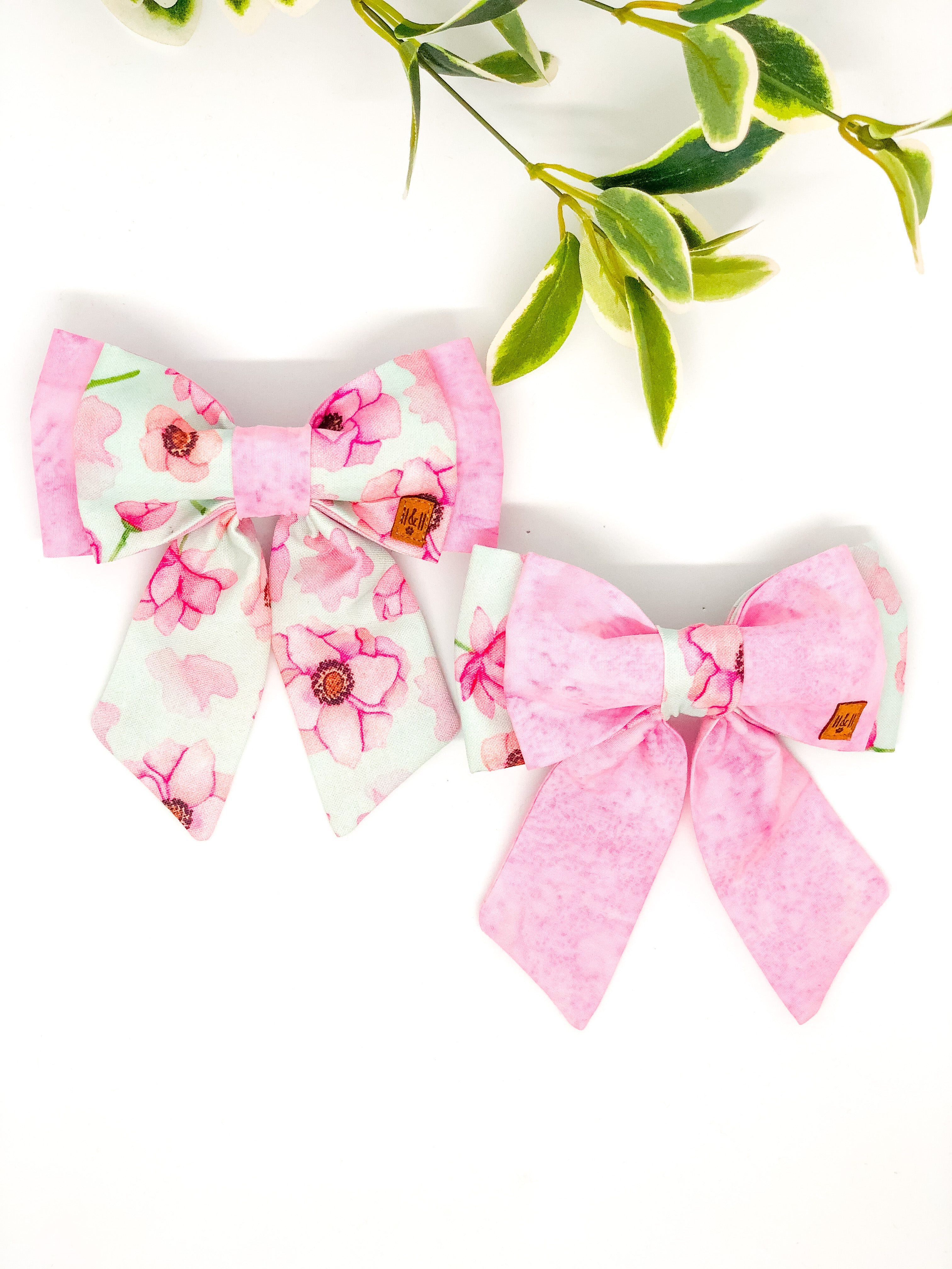 Double Dog Sailor Bow | Peony x Pink