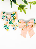 *Limited Edition* Double Dog Sailor Bow | Floral Edit #2